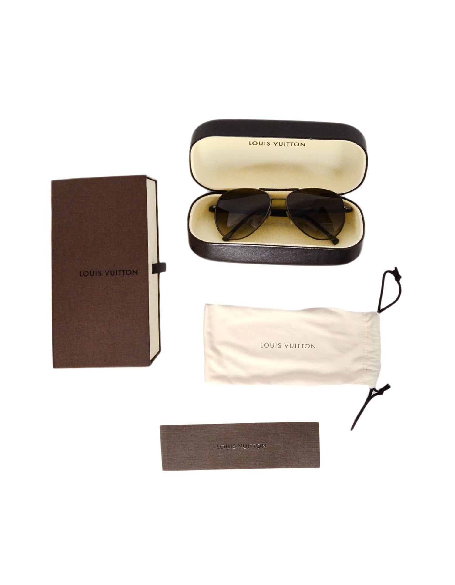 a6add7db1b26 Louis Vuitton Damier Graphite Gunmetal Conspiration Pilote Aviator  Sunglasses For Sale at 1stdibs