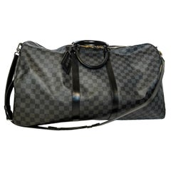 Louis Vuitton Damier Graphite Keepall Bandouliere 55 Luggage