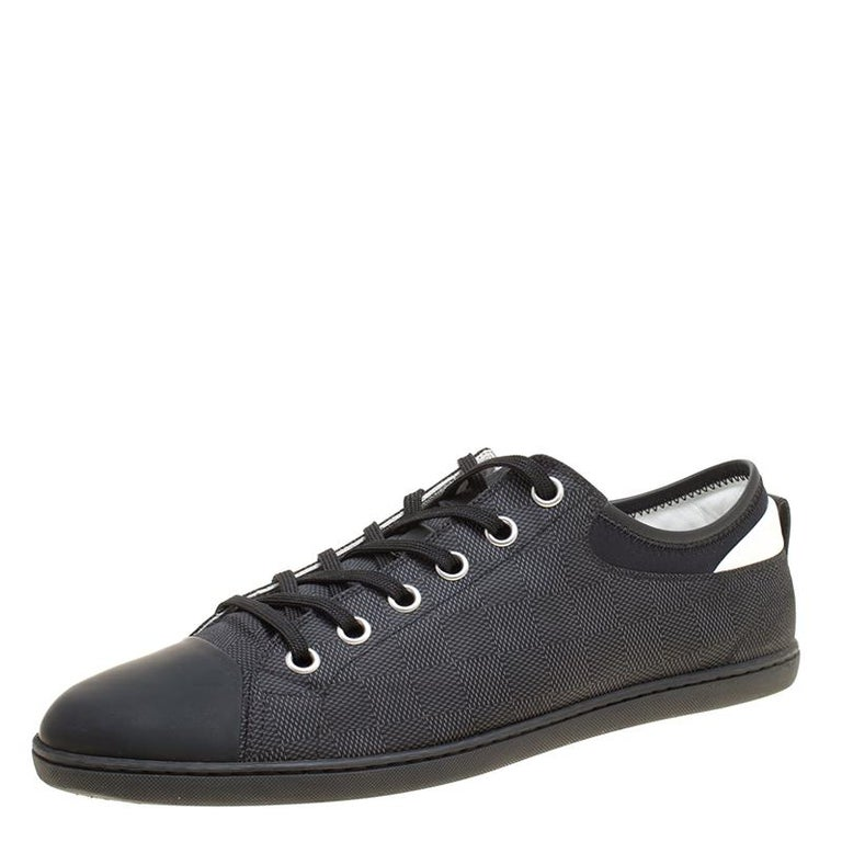 9d44215ae0c Louis Vuitton Damier Graphite Nylon and Leather Baseball Low Cut Sneakers  Size 4