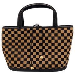Louis Vuitton Damier Sauvage Impala Tote Handbag of Brown & Tan Pony Hair