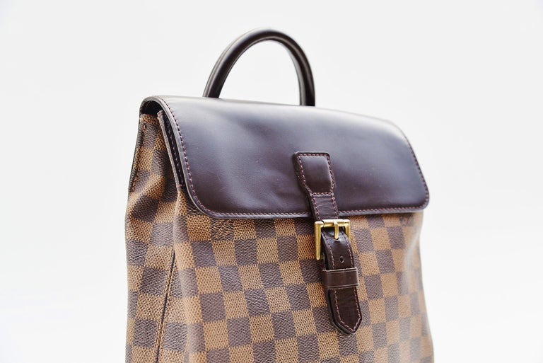 Gray Louis Vuitton Damier Soho Backpack For Sale
