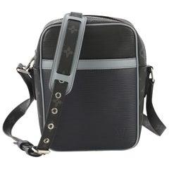 Louis Vuitton Danube Handbag Epi Leather With Monogram Canvas Slim