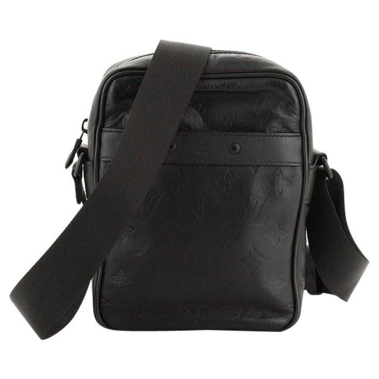 Louis Vuitton Danube Handbag Monogram Shadow Leather PM For Sale