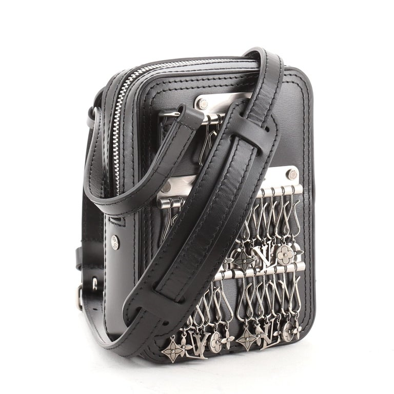 Black Louis Vuitton Danube Messenger Bag Limited Edition Charm Leather PPM For Sale