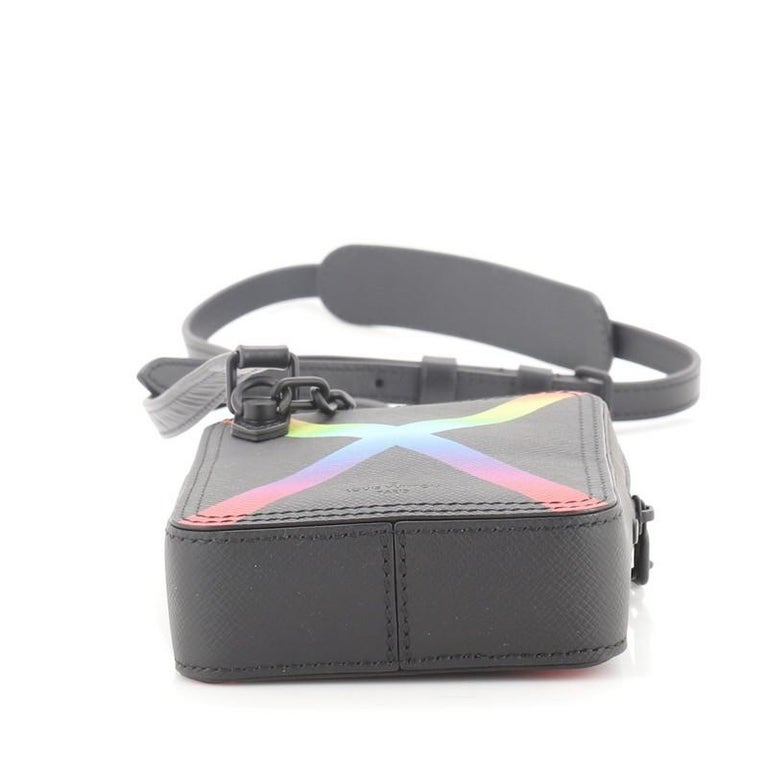 Louis Vuitton Danube Messenger Bag Rainbow Taiga Leather In Good Condition For Sale In New York, NY