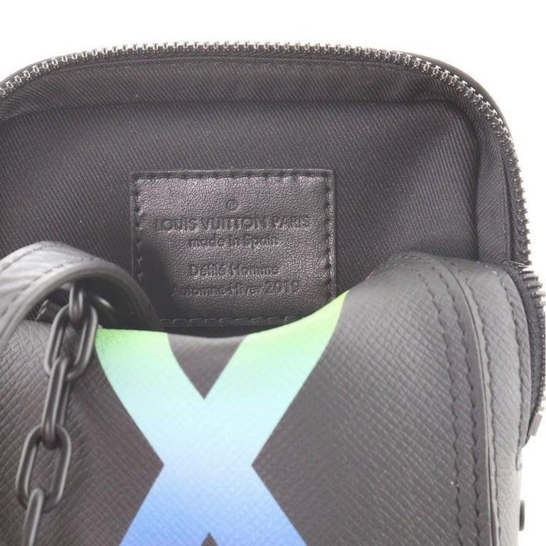 Louis Vuitton Danube Messenger Bag Rainbow Taiga Leather For Sale 1