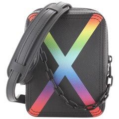 Louis Vuitton Danube Messenger Bag Rainbow Taiga Leather