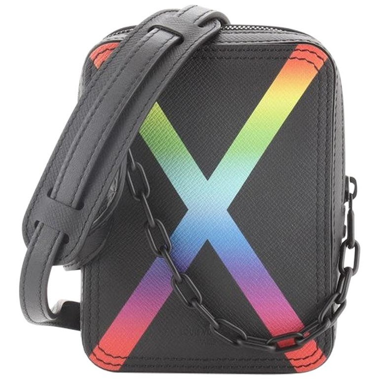 Louis Vuitton Danube Messenger Bag Rainbow Taiga Leather For Sale