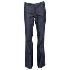 Louis Vuitton Dark Blue Toile Denim Boot Cut Jeans L