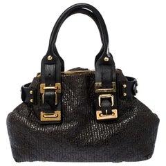 Louis Vuitton Dark Brown Monogram Patent Leather Motard Biker Bag