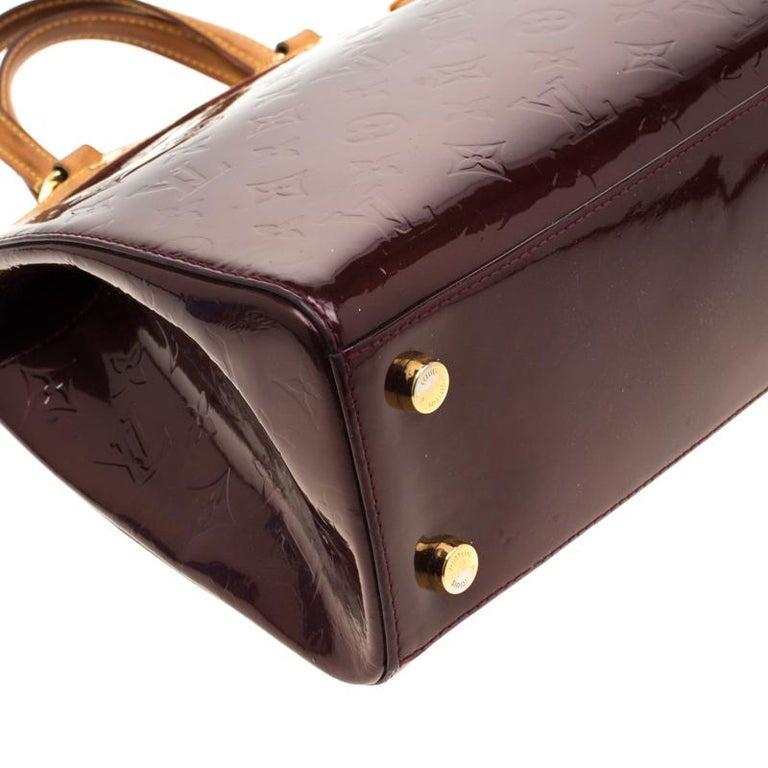 Louis Vuitton Dark Brown Monogram Vernis Brea MM Bag For Sale 5