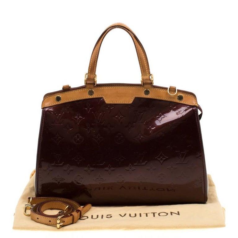 Louis Vuitton Dark Brown Monogram Vernis Brea MM Bag For Sale 6
