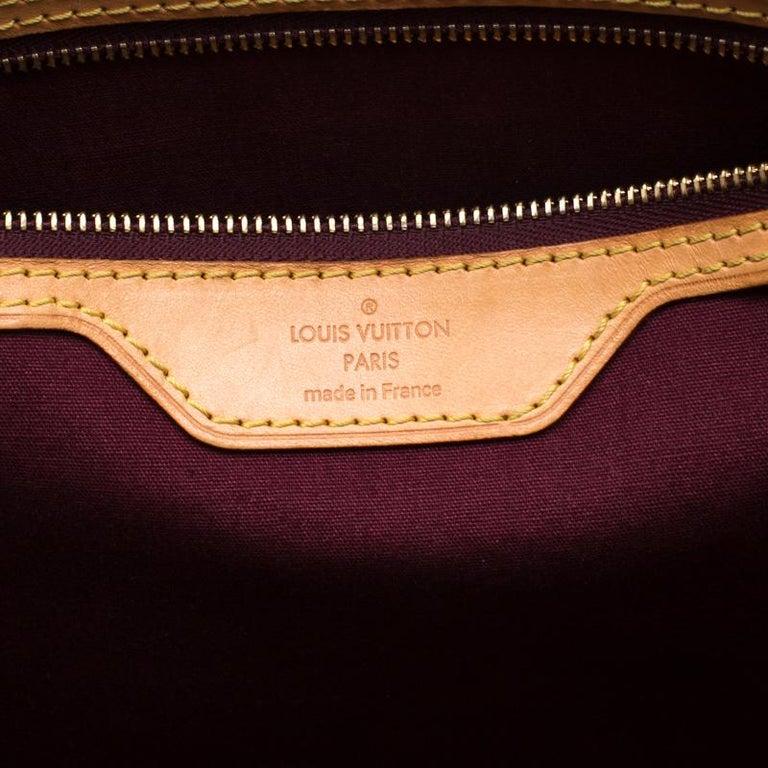 Louis Vuitton Dark Brown Monogram Vernis Brea MM Bag For Sale 1