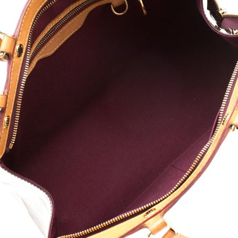 Louis Vuitton Dark Brown Monogram Vernis Brea MM Bag For Sale 2