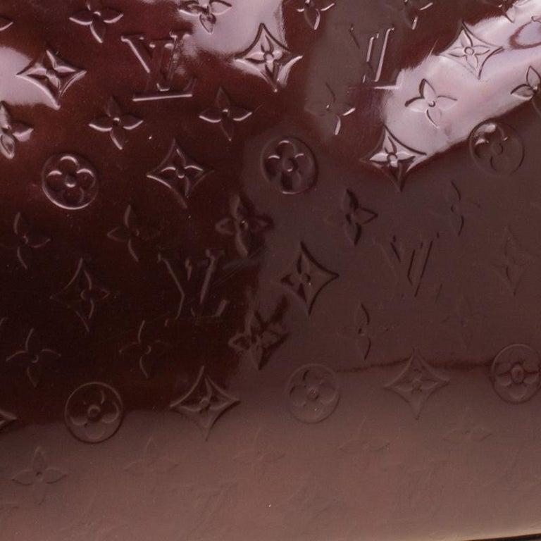 Louis Vuitton Dark Brown Monogram Vernis Brea MM Bag For Sale 3
