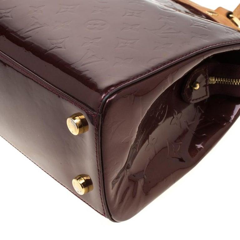 Louis Vuitton Dark Brown Monogram Vernis Brea MM Bag For Sale 4
