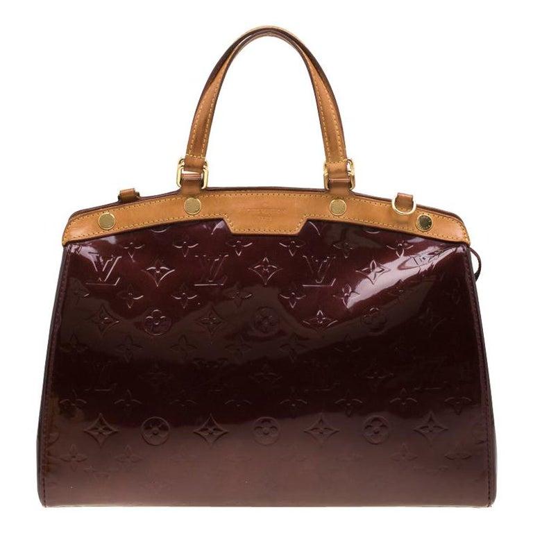 Louis Vuitton Dark Brown Monogram Vernis Brea MM Bag For Sale