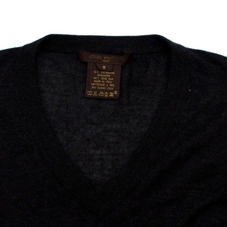 Women's Louis Vuitton Dark Grey Cashmere Blend Long-Sleeved Dress US 6 For Sale