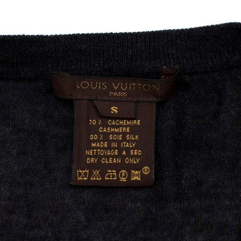 Louis Vuitton Dark Grey Cashmere Blend Long-Sleeved Dress US 6 For Sale 1