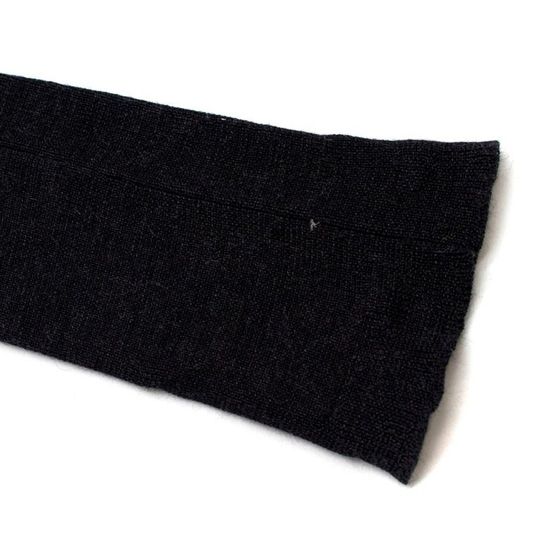 Louis Vuitton Dark Grey Cashmere Blend Long-Sleeved Dress US 6 For Sale 3