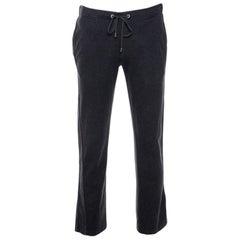 Louis Vuitton Dark Grey Cotton Drawstring Waist Sweatpants S