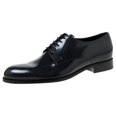 Louis Vuitton Dark Grey Leather Lace Up Derby Size 43.5