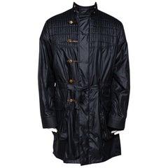 Louis Vuitton Dark Navy Quilt Detail Detachable Hooded Parka XXL