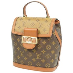 LOUIS VUITTON Dauphine Backpack Womens ruck sack Daypack M45142 Light brown x da
