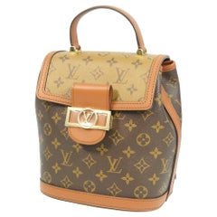 LOUIS VUITTON Dauphine Backpack Womens ruck sack Daypack M45142 Light brown x da