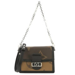 Louis Vuitton Dauphine Shoulder Bag Limited Edition Reverse Monogram Giant MM