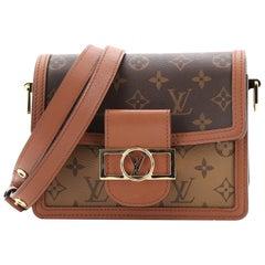Louis Vuitton Dauphine Shoulder Bag Reverse Monogram Canvas Mini