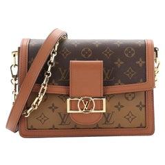 Louis Vuitton Dauphine Shoulder Bag Reverse Monogram Canvas MM