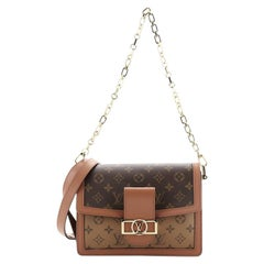 Louis Vuitton Dauphine Shoulder Bag Reverse Monogram Canvas MM