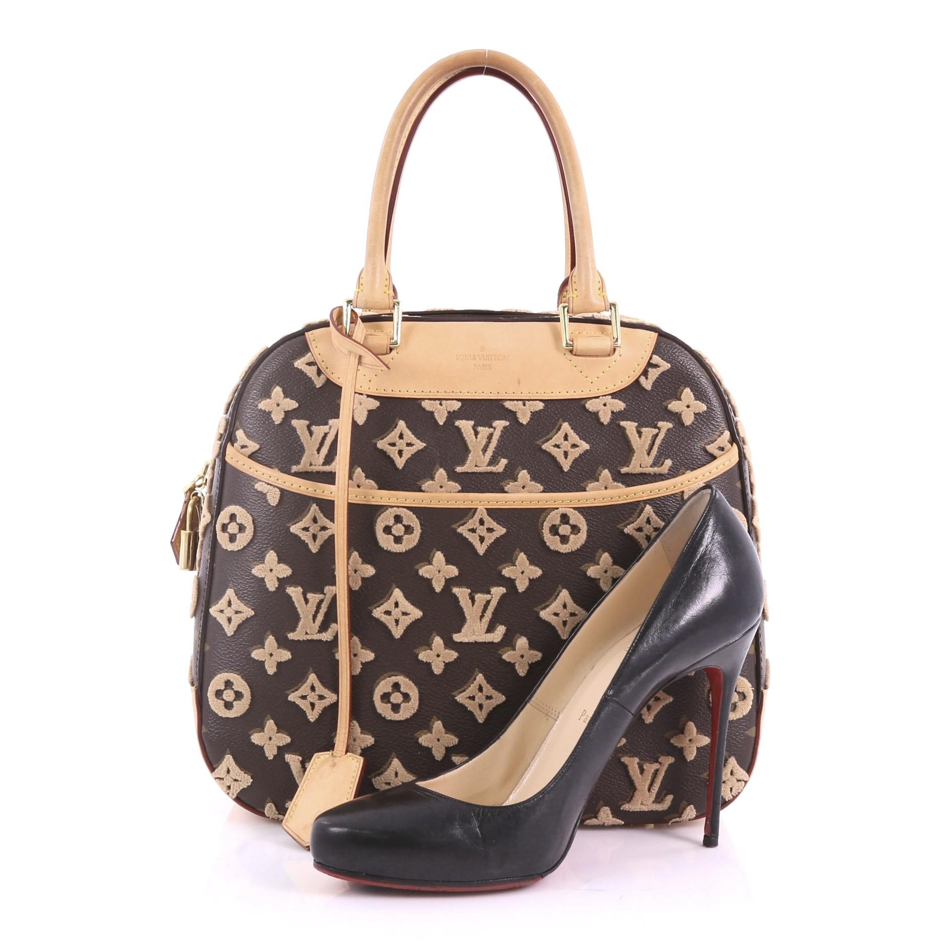 42c537100a36 Louis Vuitton Deauville Cube Bag Limited Edition Monogram Canvas Tuffetage  at 1stdibs