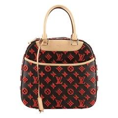Louis Vuitton Deauville Cube Bag Monogram Tuffetage Canvas