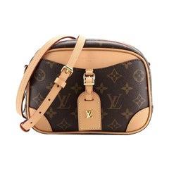 Louis Vuitton Deauville Handbag Monogram Canvas Mini
