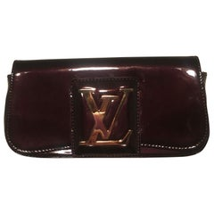 Louis Vuitton Deep Plum Aramante SoBe Patent Leather Clutch