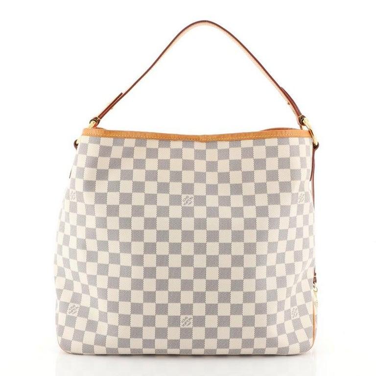 Beige Louis Vuitton Delightful NM Handbag Damier MM For Sale