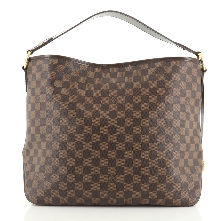 Gray Louis Vuitton Delightful NM Handbag For Sale