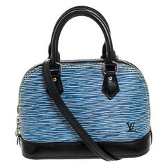 Louis Vuitton Denim Epi Leather Alma Nano Bag