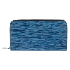 Louis Vuitton Denim Epi Leather Zippy Wallet