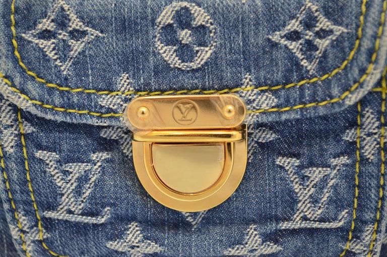 Louis Vuitton Denim Monogram Top Handle Neo Speedy Bag For Sale 5