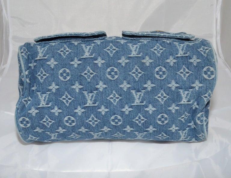 Women's Louis Vuitton Denim Monogram Top Handle Neo Speedy Bag For Sale
