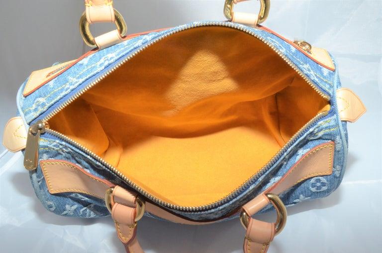 Louis Vuitton Denim Monogram Top Handle Neo Speedy Bag For Sale 1