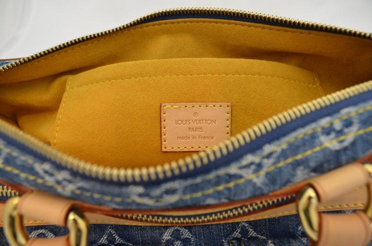 Louis Vuitton Denim Monogram Top Handle Neo Speedy Bag For Sale 2