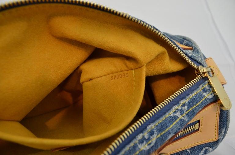Louis Vuitton Denim Monogram Top Handle Neo Speedy Bag For Sale 3