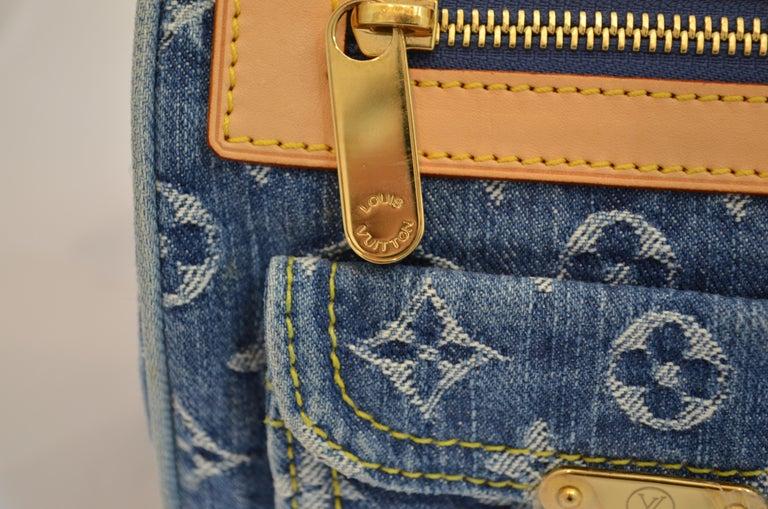 Louis Vuitton Denim Monogram Top Handle Neo Speedy Bag For Sale 4