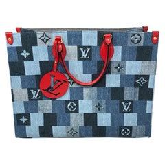 Louis Vuitton Denim On The Go Tote