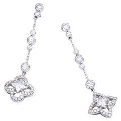 Louis Vuitton Diamond Gold Ear Pendants