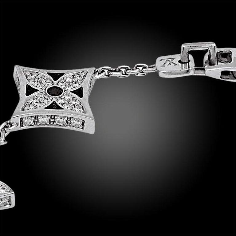 Round Cut Louis Vuitton Diamond Monogram Bracelet For Sale